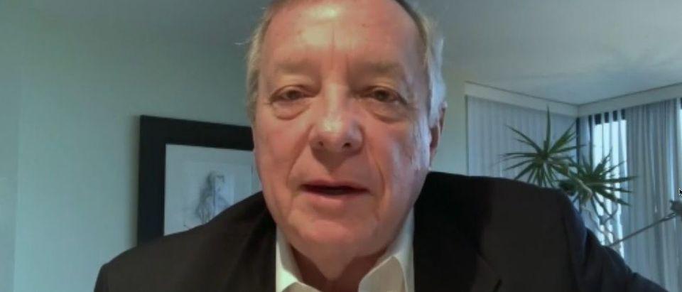 Dick Durbin avoids court packing question (NBC screengrab)