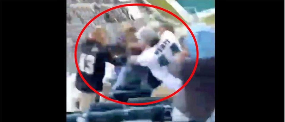 Eagles Fight (Credit: Screenshot/Twitter Video https://twitter.com/barstoolsports/status/1317962339350700035)