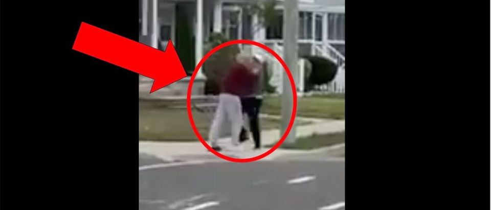 Elderly Fight (Credit: Screenshot/Twitter Video https://twitter.com/barstoolsports/status/1321588721704194051)