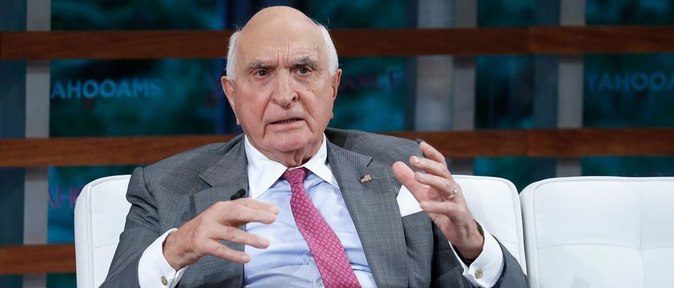 NEW YORK, NY - SEPTEMBER 20: Home Depot co-funders Ken Langone peaks during the 2018 Yahoo Finance All Markets Summit at The Times Center on September 20, 2018 in New York City. (John Lamparski/Getty Images)