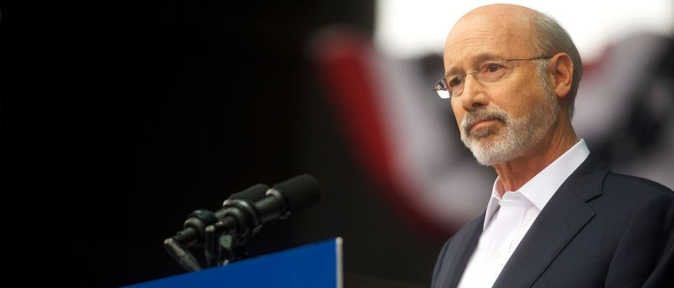PHILADELPHIA, PA - SEPTEMBER 21: Pennsylvania Governor Tom Wolf addresses supporters before former President Barack Obama speaks during a campaign rally for statewide Democratic candidates on September 21, 2018 in Philadelphia, Pennsylvania. Midterm election day is November 6th. (Mark Makela/Getty Images)