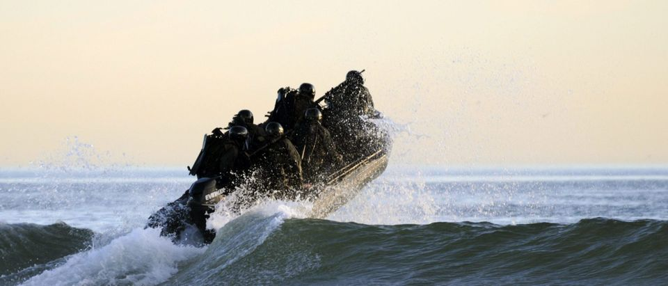US Navy SEALs during maritime operations training in Coronado, CA