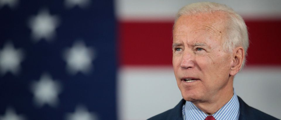 Presidential Candidate Joe Biden Holds Town Hall In Davenport, Iowa