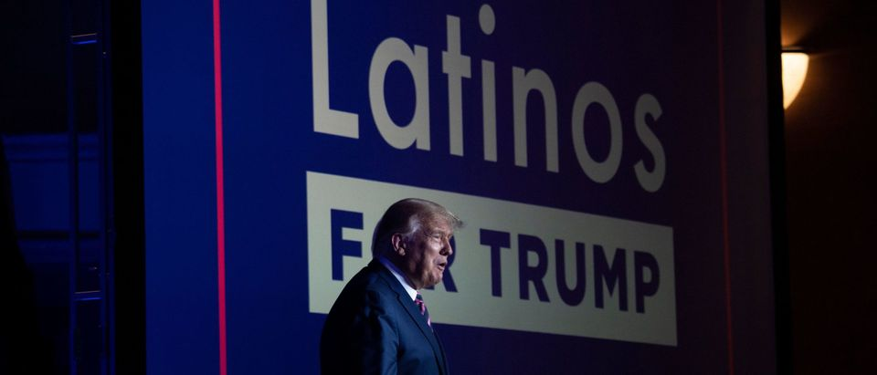 US President Donald Trump At Latinos For Trump Event