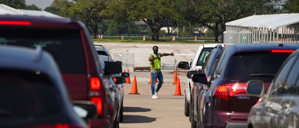 Texans Deliver Their Absentee Ballots At Houston's Only Drop-Off Site