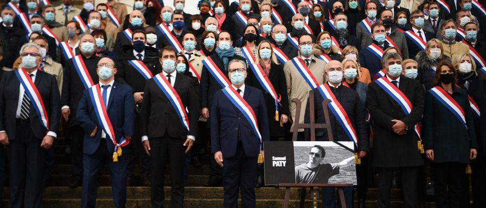 FRANCE-POLITICS-ATTACK-EDUCATION-TRIBUTE
