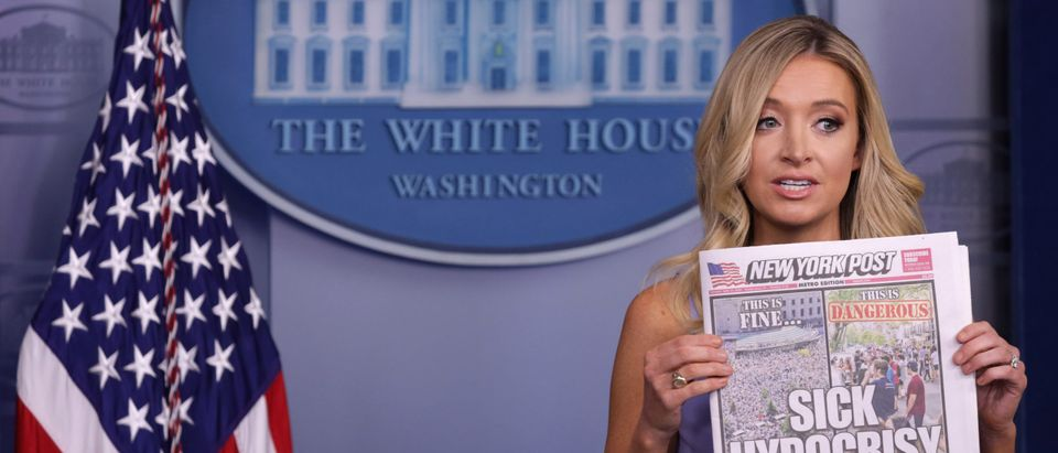 Press Secretary Kayleigh McEnany Holds Briefing At White House
