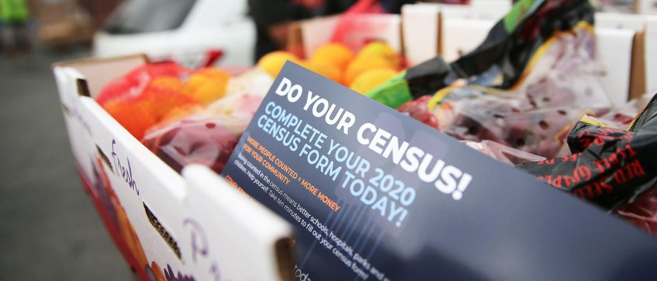 Los Angeles Food Bank Distributes Food Supplies And Census Information