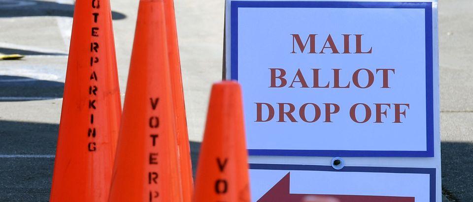 Voters Drop Off Ballots In Nevada