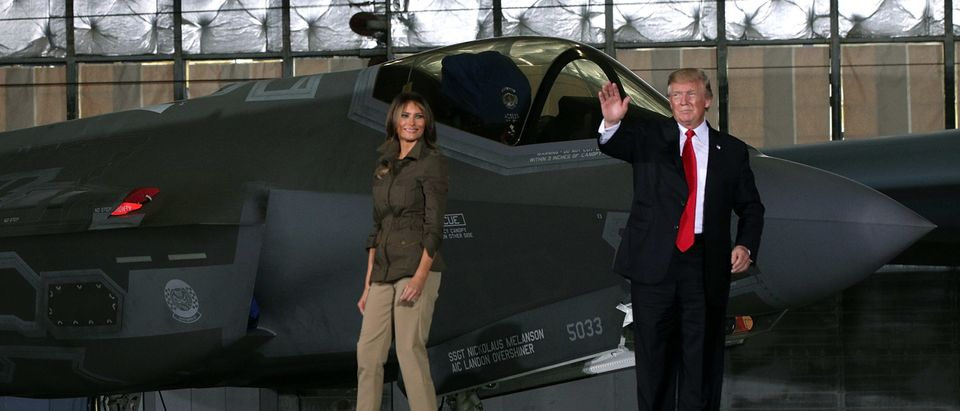 President And Mrs Trump Visit Andrews Air Force Base