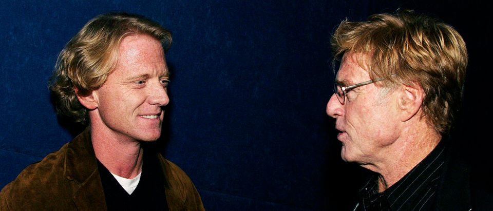 Robert Redford and son James Redford