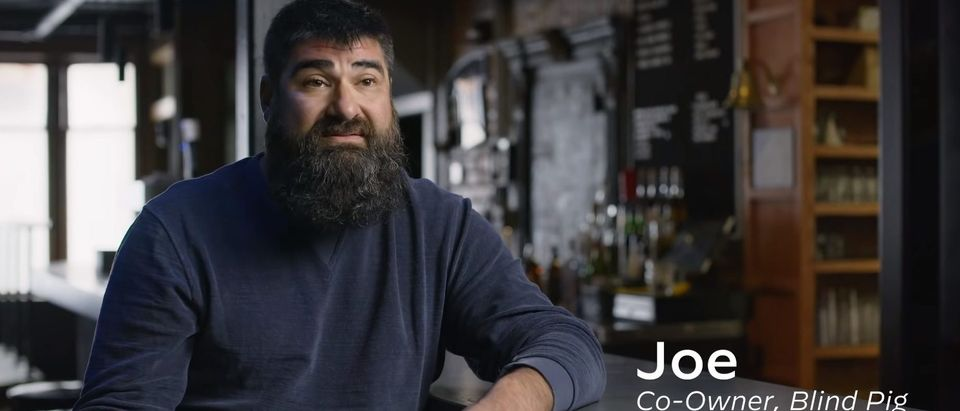 Joe Malcoun featured in Joe Biden ad (Screenshot/YouTube)