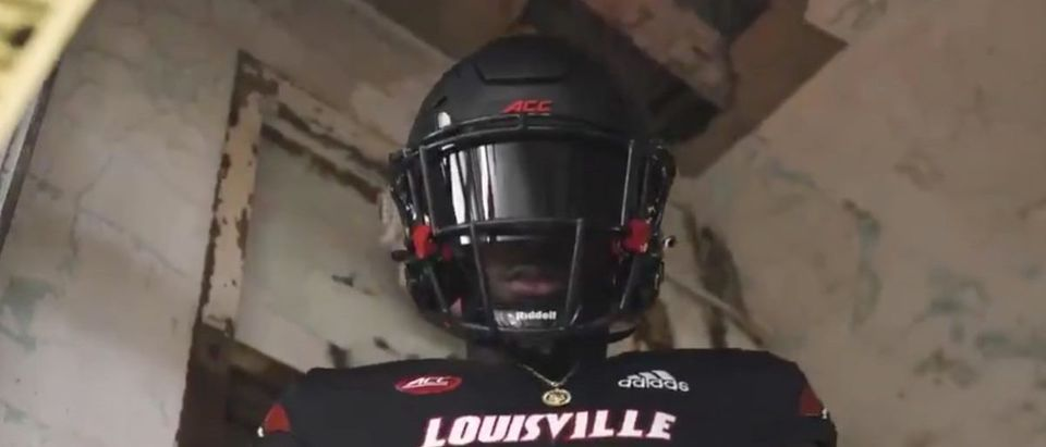 Louisville Halloween Uniforms (Credit: Screenshot/Twitter Video https://twitter.com/UofLFootball/status/1321229439523418113)