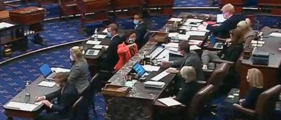 Mazie Hirono says 'hell no' on Senate floor (Fox News screengrab)