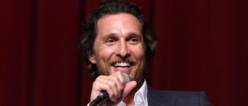 "LOS ANGELES, CA - NOVEMBER 09: Actor Matthew McConaughey speaks during a Q&A at TWC-Dimension Celebrates The Cast And Filmmakers Of ""Gold"" on November 9, 2016 in Los Angeles, California. (Photo by Vivien Killilea/Getty Images for TWC-Dimension)"