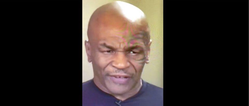 Mike Tyson (Credit: Screenshot/Twitter Video https://twitter.com/ClaraWSparkles/status/1315910493094191105)