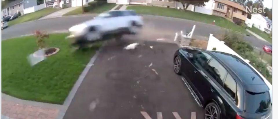Mom Plows Car Through House