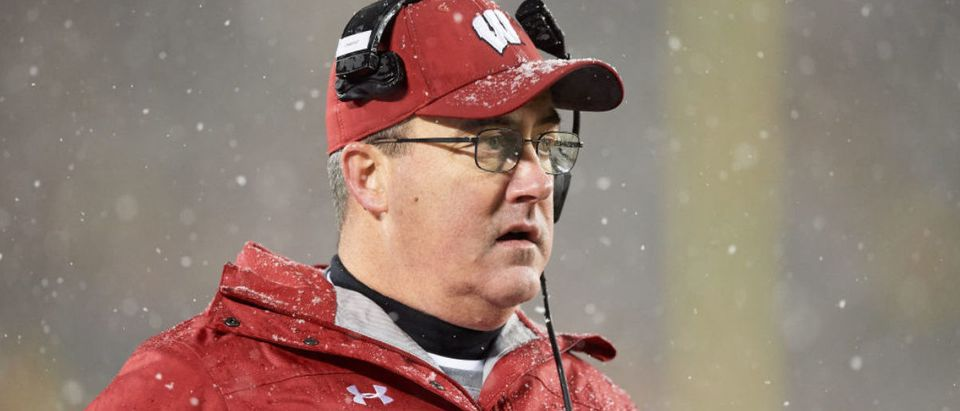 MINNEAPOLIS, MINNESOTA - NOVEMBER 30: Head coach Paul Chryst of the Wisconsin Badgers looks on during the game against the Minnesota Golden Gophers at TCF Bank Stadium on November 30, 2019 in Minneapolis, Minnesota. The Badgers defeated the Golden Gophers 38-17. (Photo by Hannah Foslien/Getty Images)