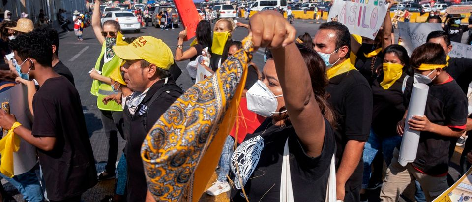 MEXICO-US-HEALTH-VIRUS-MIGRATION-PROTEST