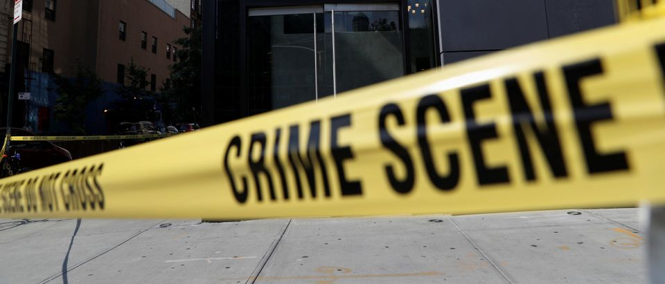 NYPD crime scene tape blocks the entrance to 265 Houston Street, where Fahim Saleh, Co-founder/CEO of Gokada, was found dead at the apartment building in New York City, New York