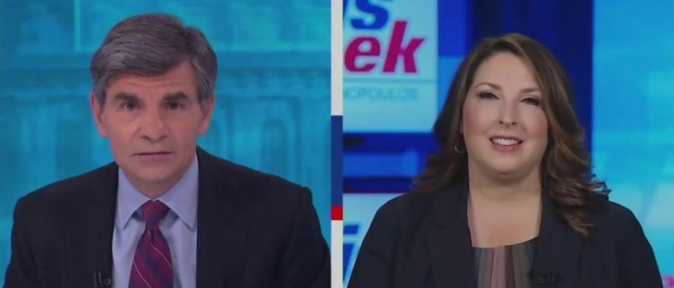 Ronna McDaniel clashes with Stephanopoulos over Whitmer (ABC screengrab)