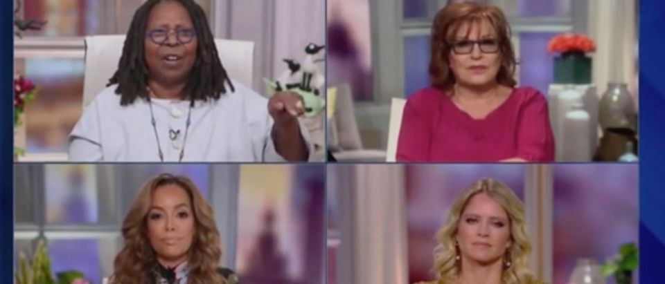 "Whoopi Goldberg, Joy Behar, Sunny Hostin and Sara Haines appear on ""The View."" Screenshot/ABC"