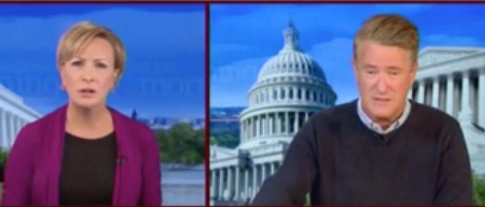 "Mika Brzezinski and Joe Scarborough host ""Morning Joe."" Screenshot/MSNBC"