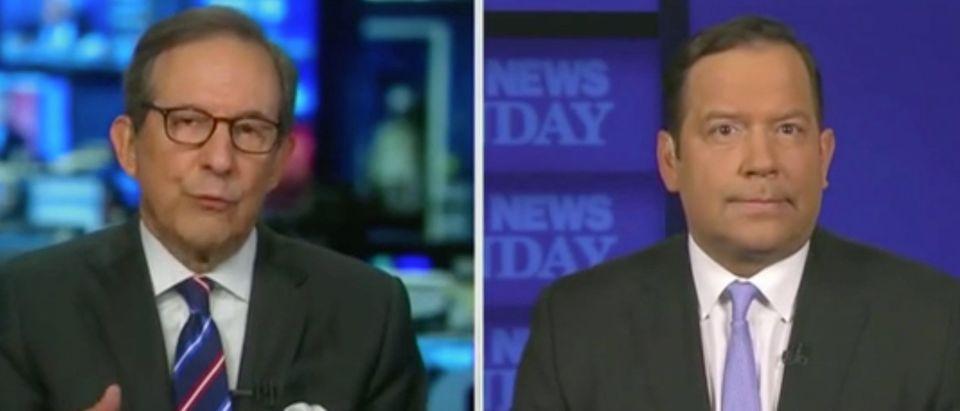 "Chris Wallace and Steve Cortes appear on ""Fox News Sunday."" Screenshot/Fox"