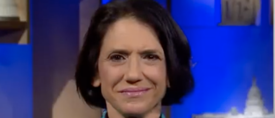 Jennifer Rubin suggested Congress should defund Walter Reed hospital, where Trump has been recovering from COVID-19. (Screenshot YouTube MSNBC, https://www.youtube.com/watch?v=Misa-IOkKcE)