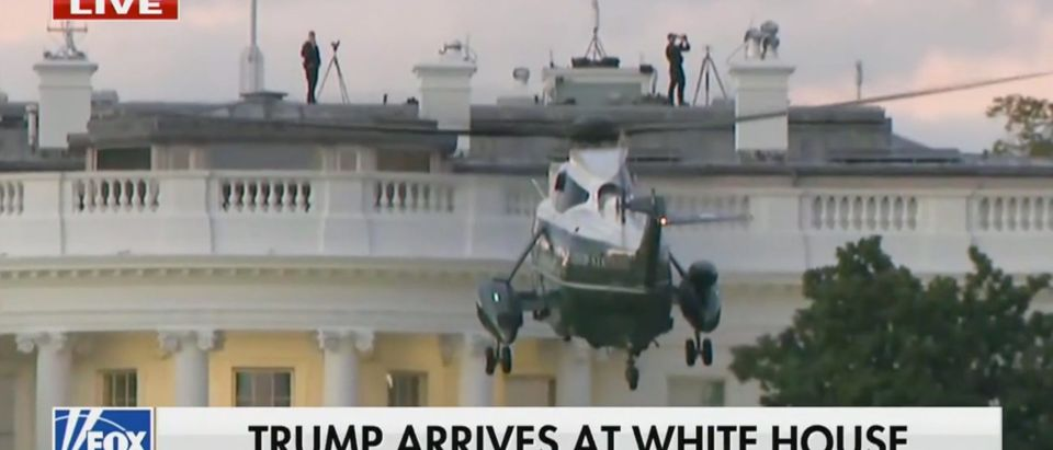 Marine One lands at the White House (Fox News)