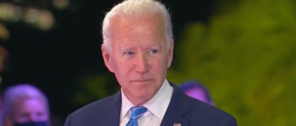 Joe Biden holds town hall event. Screenshot/MSNBC