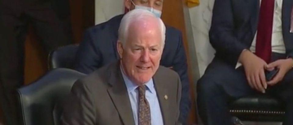 Sen. John Cornyn questions Supreme Court Nominee Amy Coney Barrett. Screenshot/C-Span