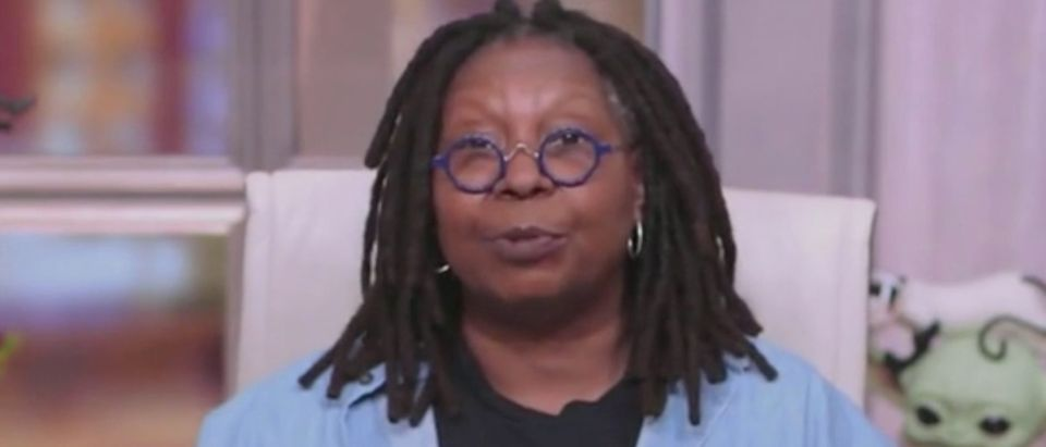 "Whoopi Goldberg appears on ""The View."" Screenshot/ABC"