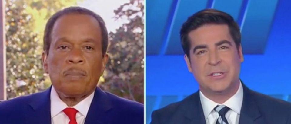 "Juan Williams and Jesse Watters appear on ""The Five."" Screenshot/Fox News"