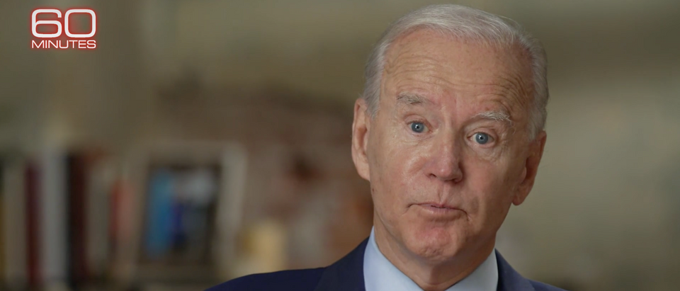 Joe Biden sits down with Norah O'Donnell for a CBS 60 Minutes Interview Sunday (Screenshot/CBS News 60 Minutes)
