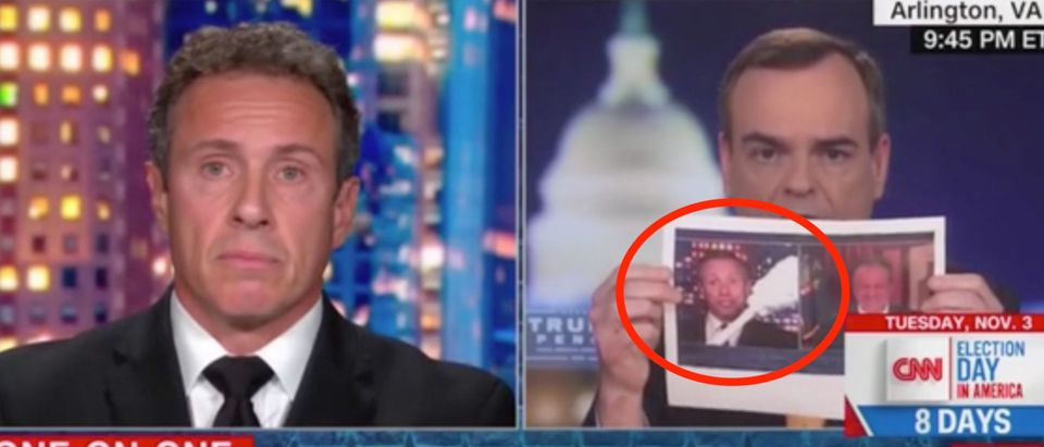 Chris Cuomo speaks with Trump campaign communications director Tim Murtaugh. Screenshot/CNN