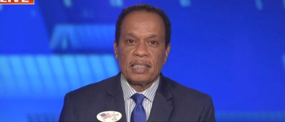 "Juan Williams appears on ""The Five."" Screenshot/Fox News"
