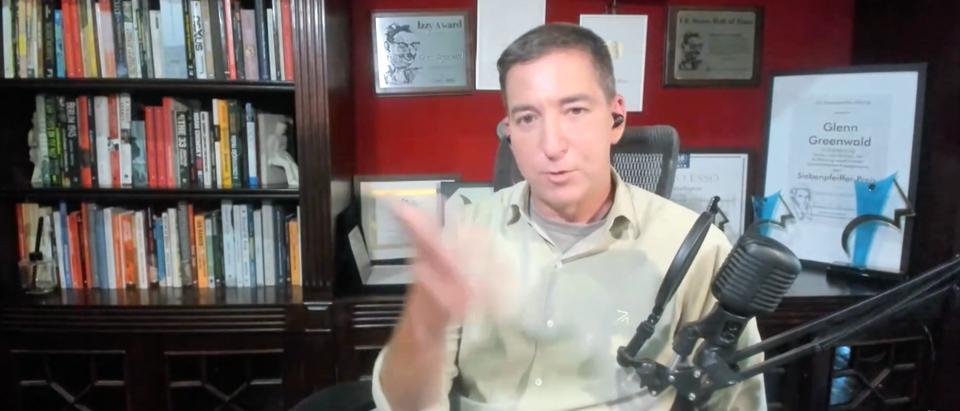 Glenn Greenwald spoke about the media in a post-Trump presidency. (Screenshot YouTube PowerfulJRE, https://www.youtube.com/watch?v=t0rcLsoIKgA)