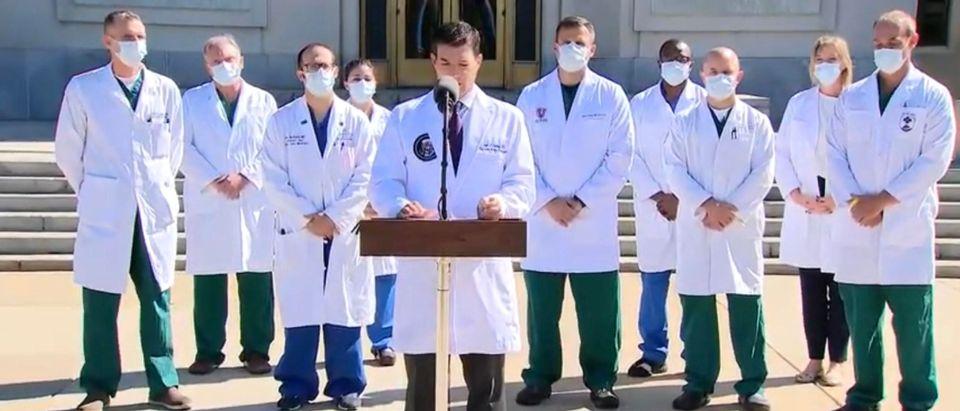 WH Physician Sean Conley. (Screenshot/YouTube/Fox Business)