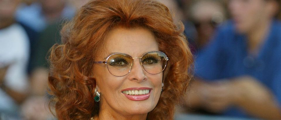 Italian actress Sophia Loren attends the opening ceremony of the 59th Venice Film Festival August 29, 2002 in Venice, Italy. (Photo by Pascal Le Segretain/Getty Images)