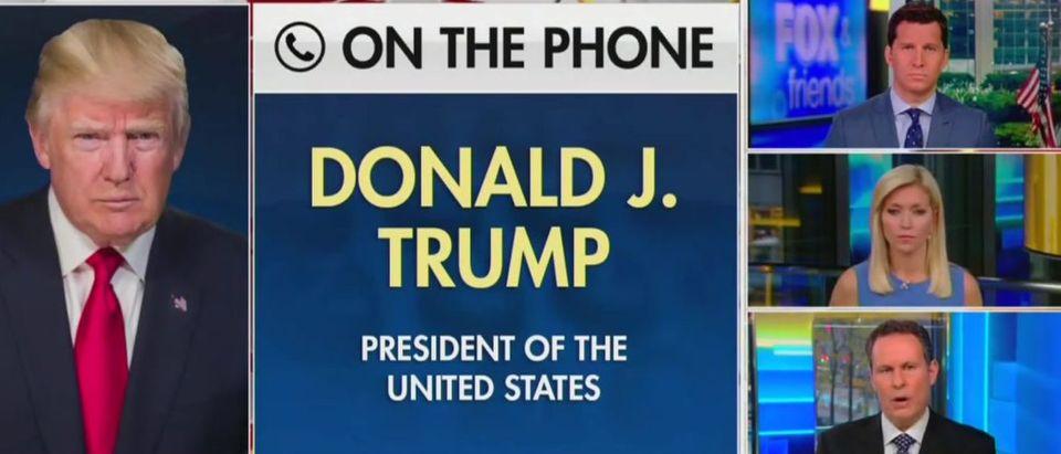 Trump debates debate strategy with Fox News hosts (Fox News screengrab)