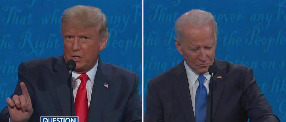Trump gets mic cut for first time (Fox News screengrab)