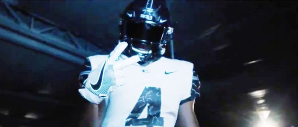 UCF Uniforms (Credit: Screenshot/Twitter Video https://twitter.com/UCF_Football/status/1319358129507741696)