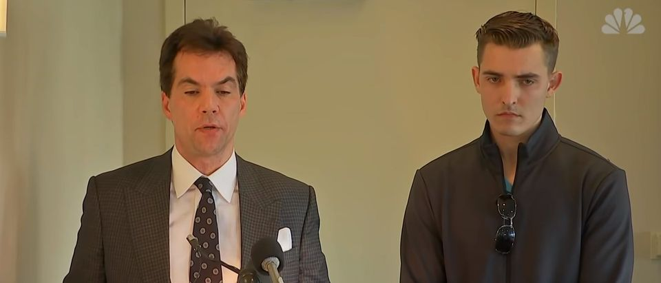 Jacob Wohl and Jack Burkman at a press conference. (YouTube/Screenshot)