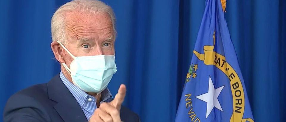Joe Biden in Las Vegas (YouTube screen capture/KTLV)