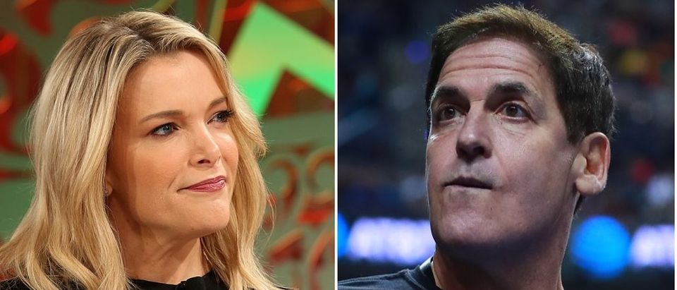 Mark Cuban said he's okay with doing business with China during an interview with Megyn Kelly. (Phillip Faraone/Getty Images for Fortune, Hector Vivas/Getty Images)