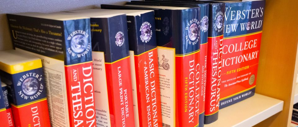 Several varieties of Webster's Dictionaries for sale at a local bookstore. (Shutterstock, David Tonelson)