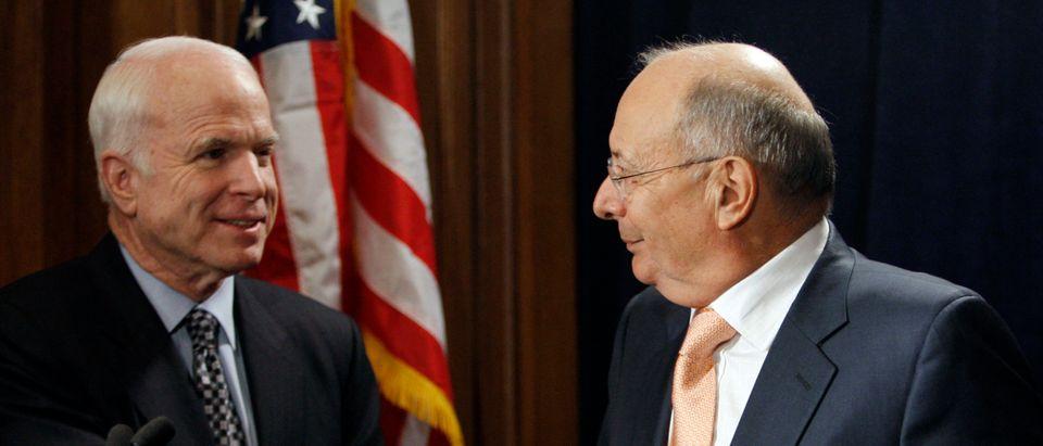 Presidential candidate U.S. Senator John McCain receives endorsement from former U.S. Senator D'Amato in New York