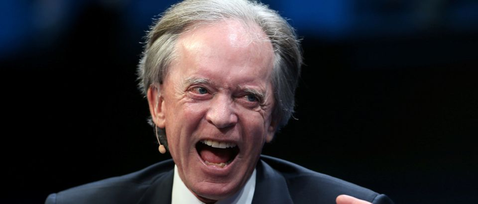 Janus Capital Group's Bill Gross laughs during the Milken Institute Global Conference in Beverly Hills