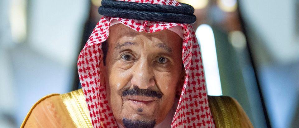 Saudi King Salman bin Abdulaziz arrives to NEOM economy zone's airport in Neom